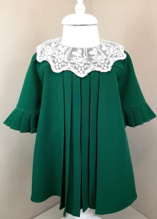 Rochie cu pliuri - verde [0]