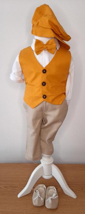 Costum cu vestă galben-muștar [0]