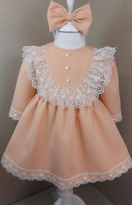 Rochie cu dantela - roz [0]