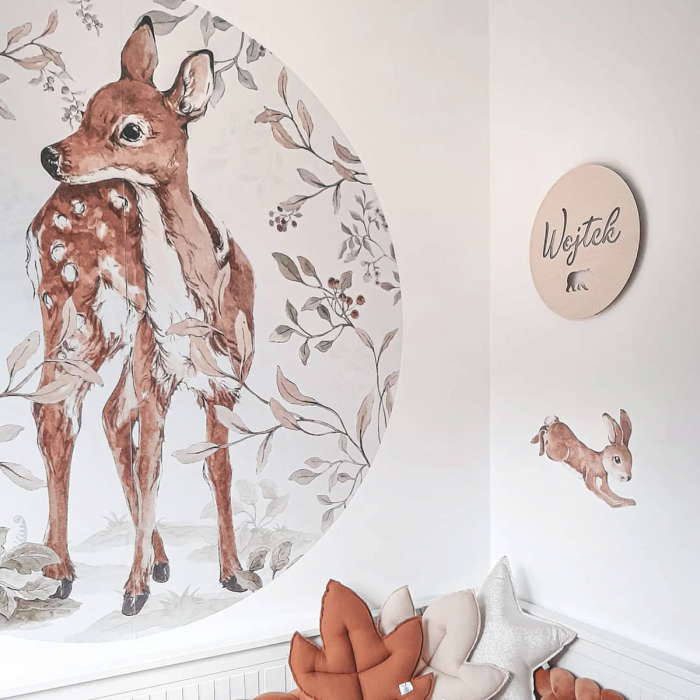 Autocolant Camera Copii Cerc Bambi [5]