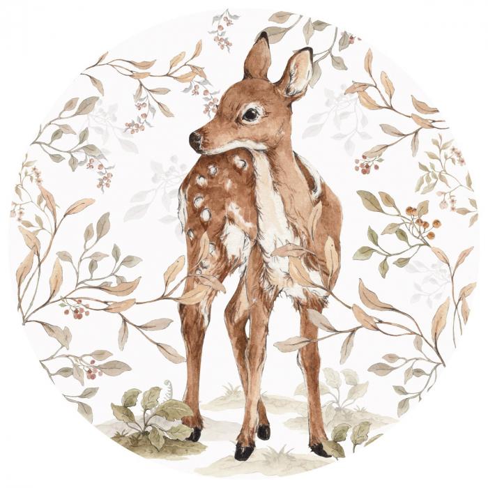 Autocolant Camera Copii Cerc Bambi [0]