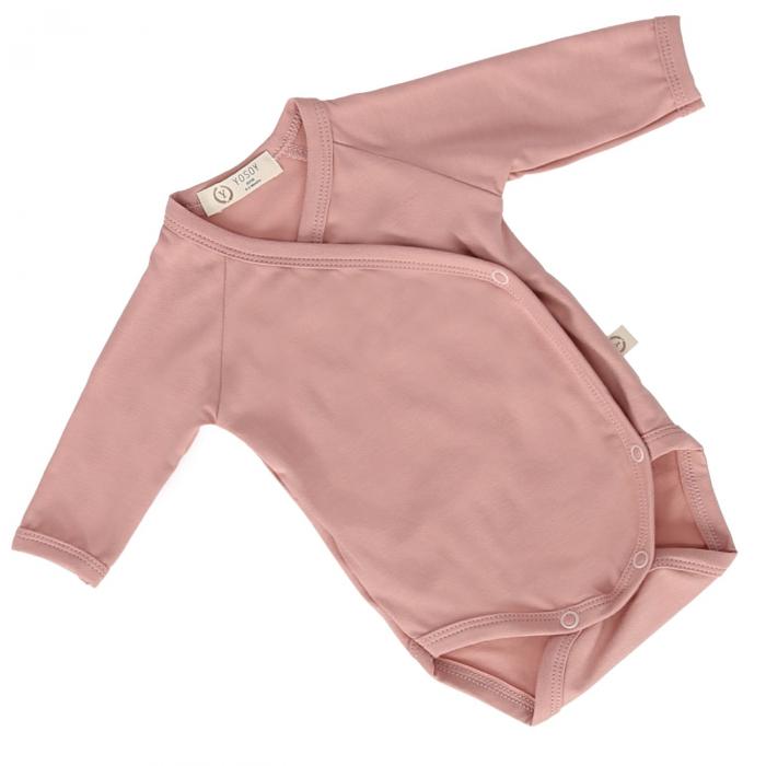 Body Din Bambus Cu Maneca Lunga Premium Dusty Pink [0]
