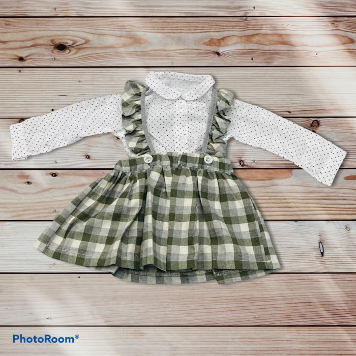 Costumas Fustita Si Camasa Pentru Fetite 6-24 Luni KAM0011 [0]