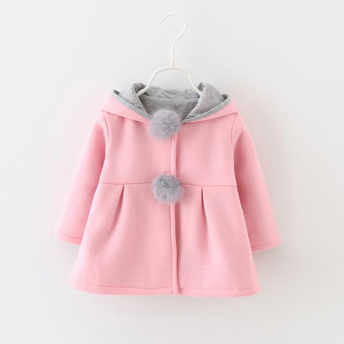Palton Roz cu Urechi de Iepuras Pentru Fete PT00025 [1]