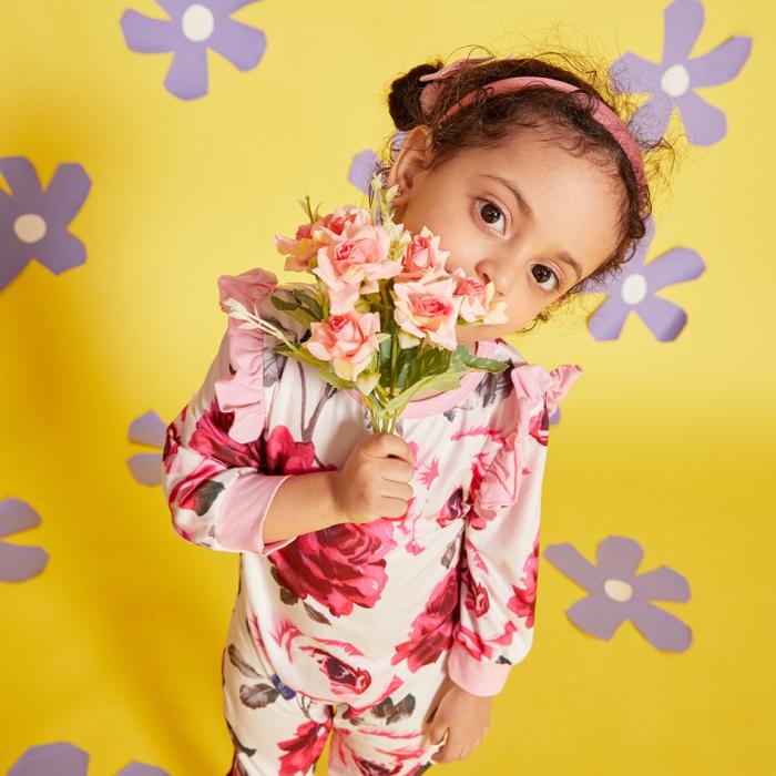 Salopeta Fete Cu Imprimeu Floral [5]