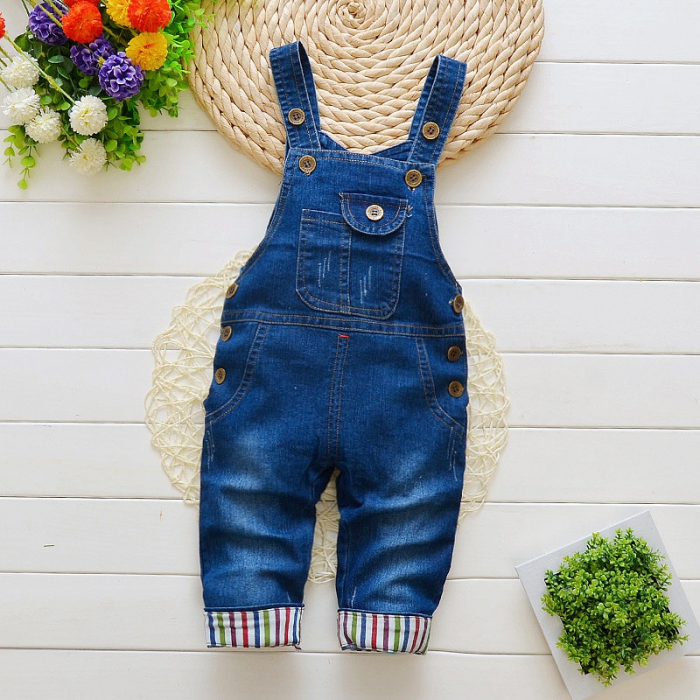 Salopeta Jeans Albastra Unisex 1-3 Ani [0]