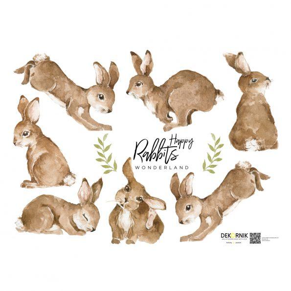 Set autocolante pentru camera copiilor Happy Rabbits Wonderland [1]