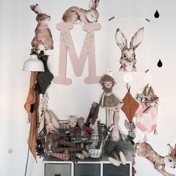 Set autocolante pentru camera copiilor Happy Rabbits Wonderland [4]