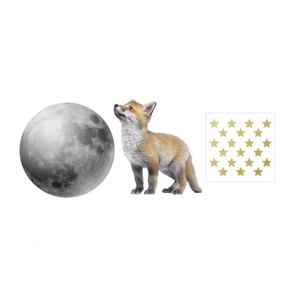 Set autocolante pentru camera copiilor Little Fox And The Moon [1]