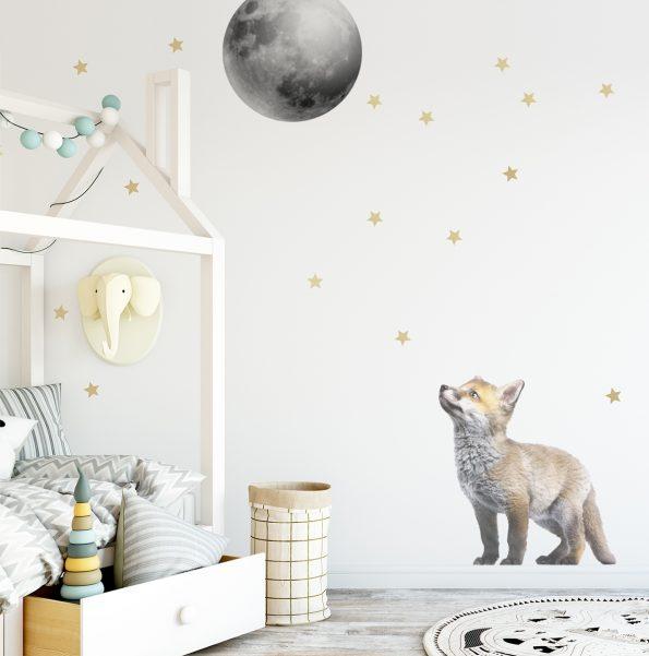 Set autocolante pentru camera copiilor Little Fox And The Moon [0]