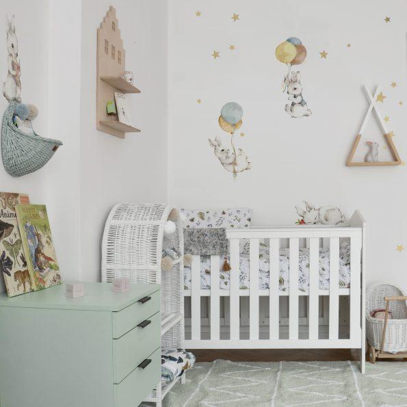 Set autocolante pentru camera copiilor White Wonder Rabbits [0]