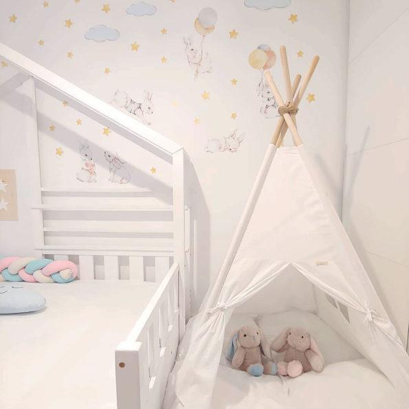 Set autocolante pentru camera copiilor White Wonder Rabbits [8]