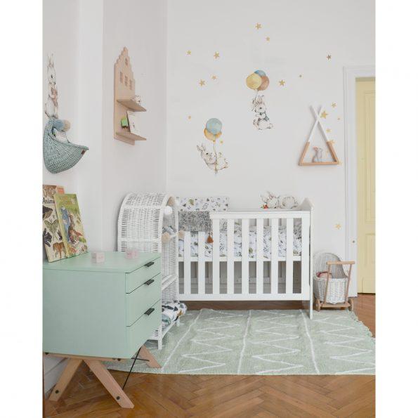 Set autocolante pentru camera copiilor White Wonder Rabbits [4]