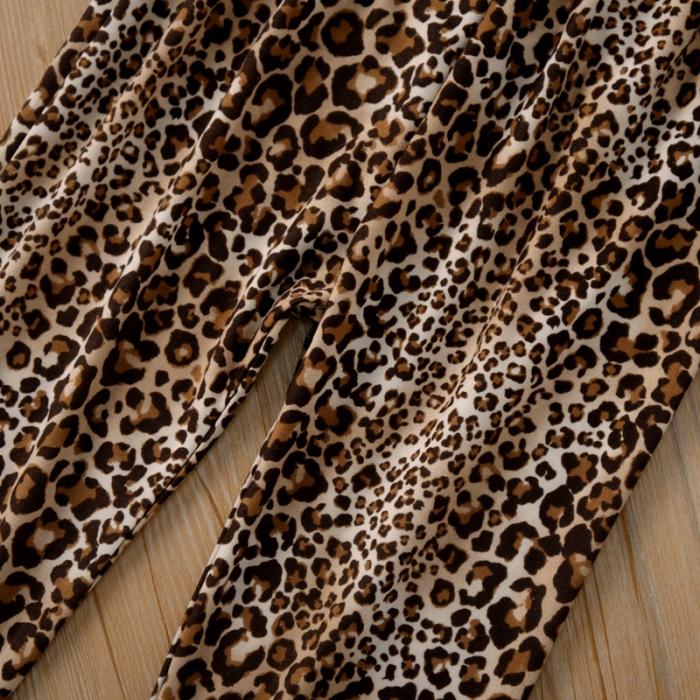 Set Bluza Bej Si Pantaloni Leopard Fete 18 Luni-5 Ani [2]