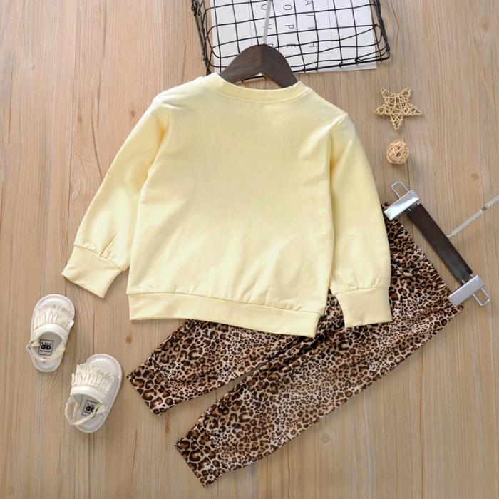 Set Bluza Bej Si Pantaloni Leopard Fete 18 Luni-5 Ani [1]