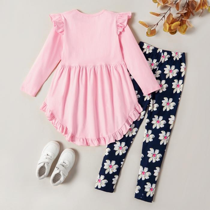 Set Bluza Si Pantaloni Cu Imprimeu Floral [1]
