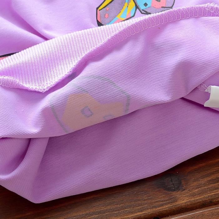 Set Bluza Si Pantaloni Fluturi Roz Fete 18 Luni-5 Ani [1]