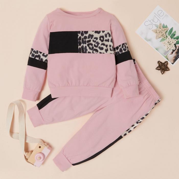 Set Bluza Si Pantaloni Leopard Roz Fete 18 Luni-5 Ani [0]
