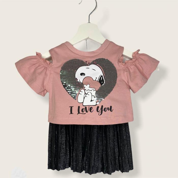 Set Fusta Si Bluza Snoopy Pentru Fetite [0]