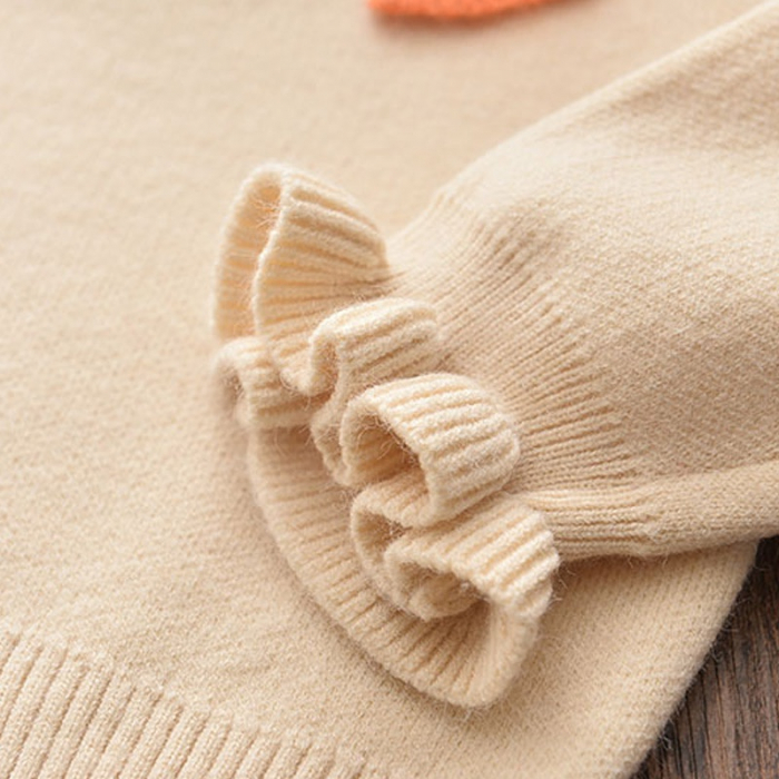 Set Fustita Si Bluza Tricotate Pentru Fetite Portocalie 18 Luni- 5 Ani [4]