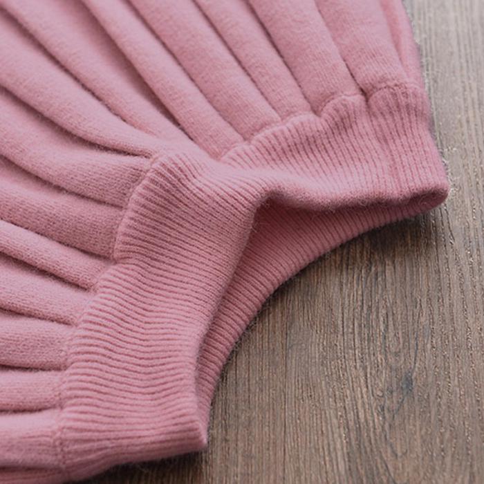 Set Fustita Si Bluza Tricotate Pentru Fetite Roz 18 Luni - 5 Ani [4]