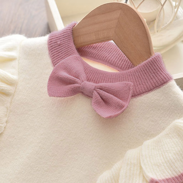 Set Fustita Si Bluza Tricotate Pentru Fetite Roz 18 Luni - 5 Ani [5]