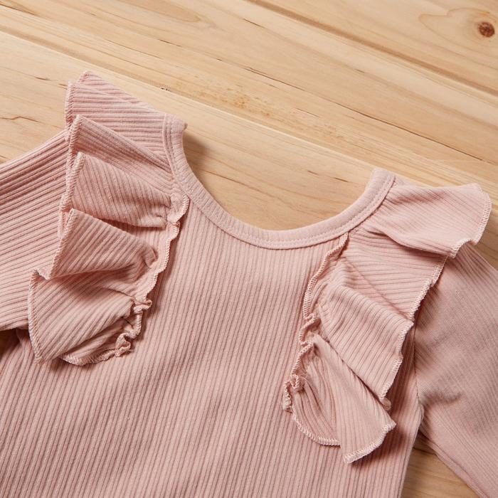 Set Pantaloni Bluza Cu Volanase Si Bentita Fete [3]