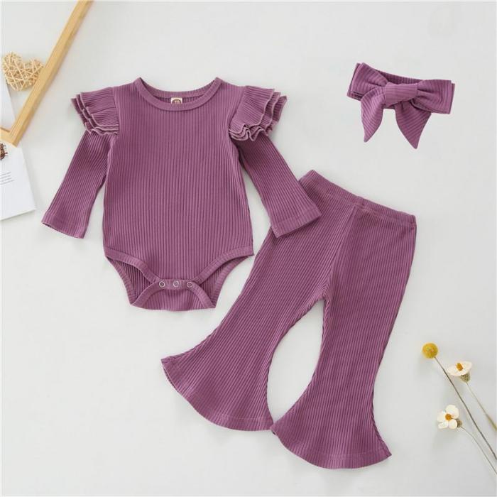 Set Pantaloni Evazati Body Violet Si Bentita Fete [0]