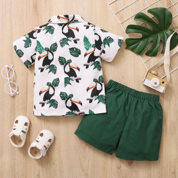 Set Pantaloni si Camasa Tropical Baieti [1]