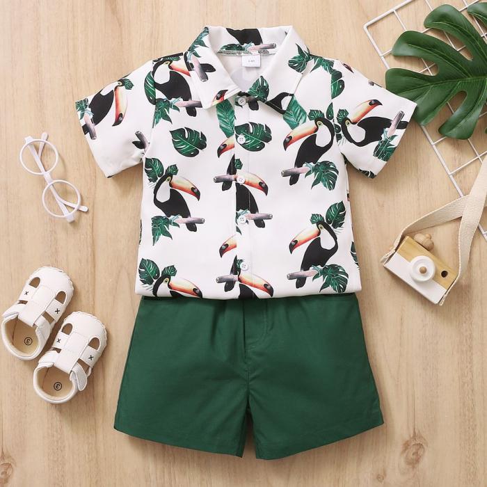 Set Pantaloni si Camasa Tropical Baieti [2]