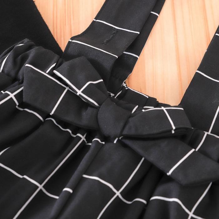 Set Salopeta Neagra Si Bluza Pentru Fete 2-5 Ani [2]