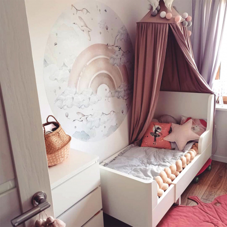 Autocolant Camera Copii Cerc Curcubeu Pentru Fete [1]