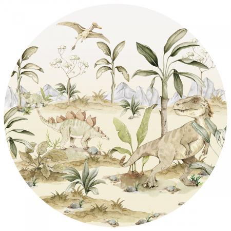 Autocolant Camera Copii Cerc Dinozaur [0]
