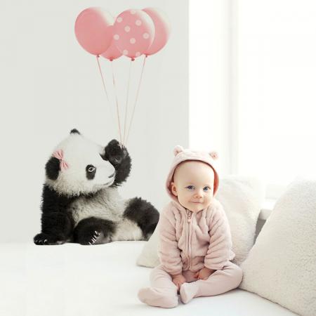 Autocolant Camera Copii Panda Pink Balloons [0]