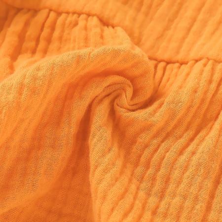 Body Creponat Cu Maneca Lunga Mustar Fetite [6]