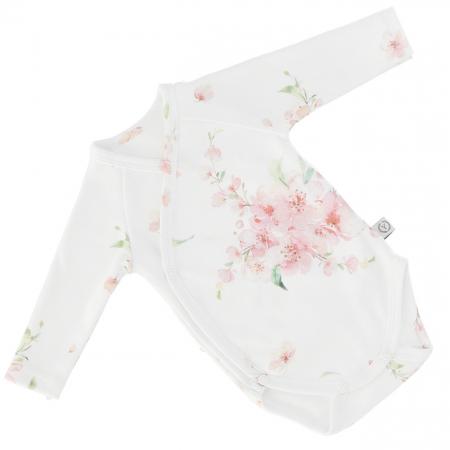 Body Din Bumbac Organic Cu Maneca Lunga - Janapese Flowers [0]