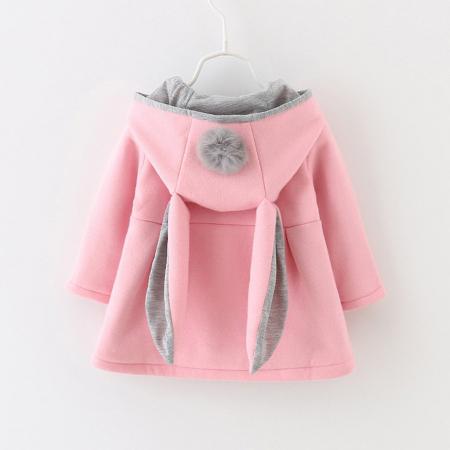 Palton Roz cu Urechi de Iepuras Pentru Fete PT00025 [0]