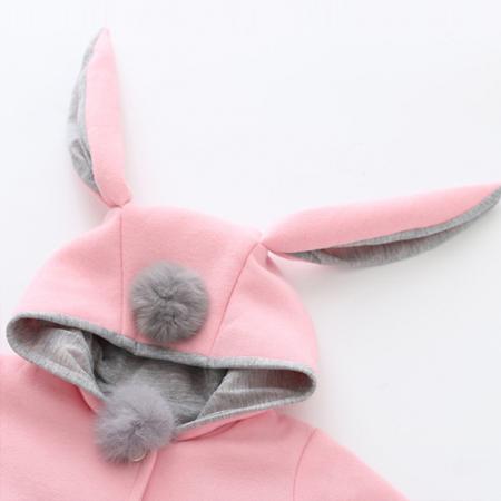 Palton Roz cu Urechi de Iepuras Pentru Fete PT00025 [3]