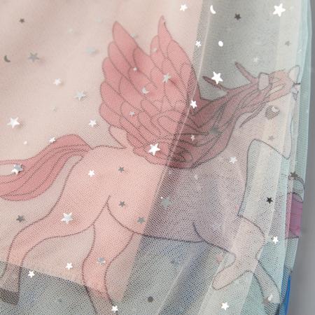 Rochita Fete Roz De Tul Cu Unicorni [2]