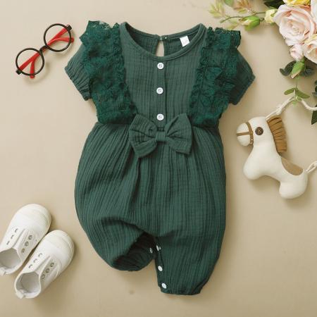 Salopeta cu Volane Verde Fetite [5]