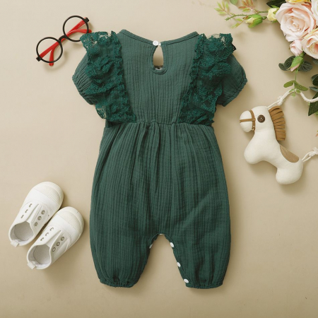 Salopeta cu Volane Verde Fetite [1]