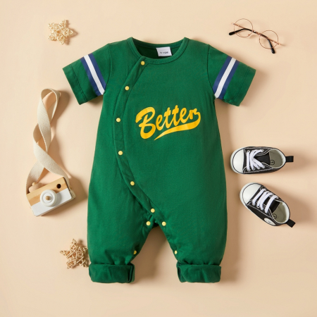 Salopeta Verde Baieti Costum Baseball [0]