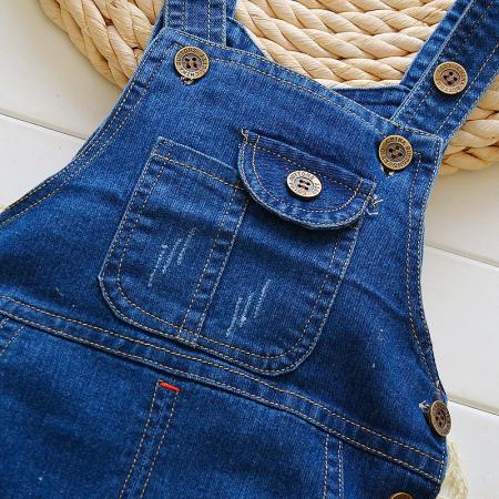 Salopeta Jeans Albastra Unisex 1-3 Ani [1]
