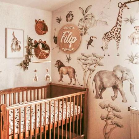 Set autocolante de perete pentru camera copiilor Savanna [3]