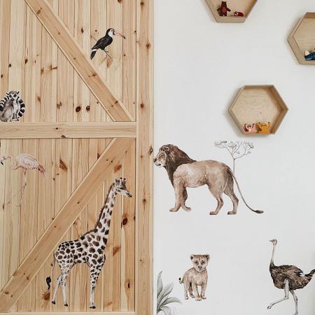 Set autocolante de perete pentru camera copiilor Savanna [7]