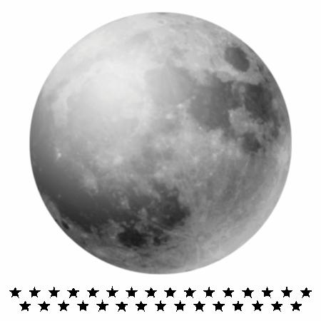 Set autocolante pentru camera copiilor Full Moon [1]