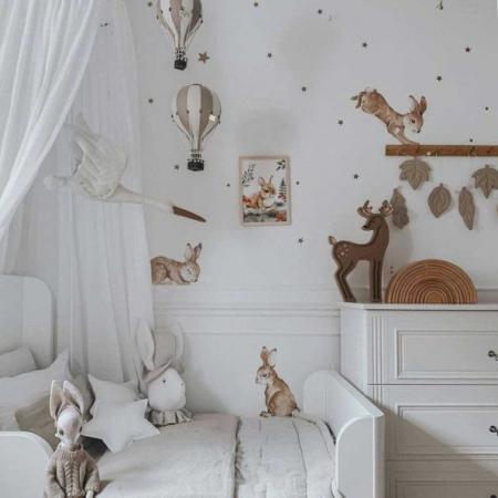 Set autocolante pentru camera copiilor Happy Rabbits Wonderland [0]