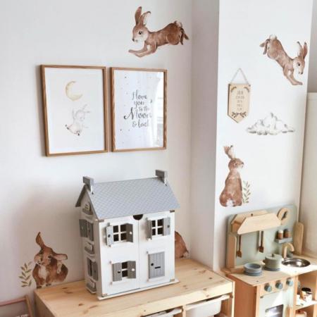 Set autocolante pentru camera copiilor Happy Rabbits Wonderland [3]