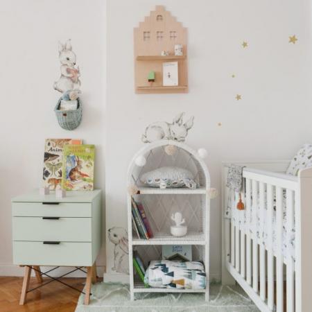 Set autocolante pentru camera copiilor White Wonder Rabbits [2]