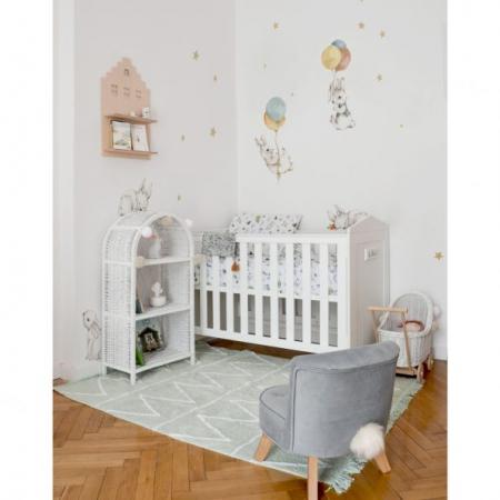 Set autocolante pentru camera copiilor White Wonder Rabbits [3]